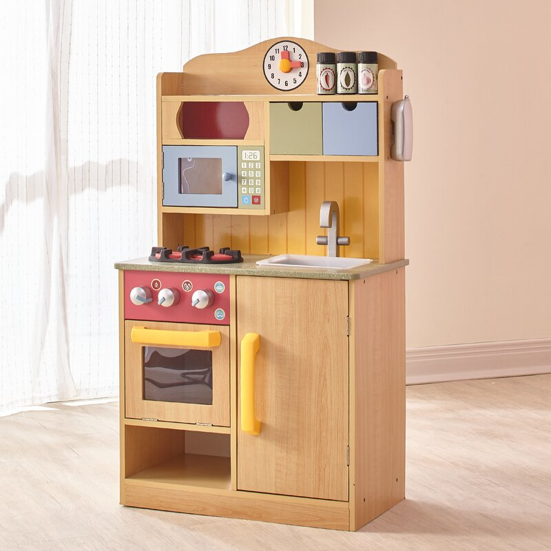 Play Kitchen teamson kids little chef wooden play kitchen with accessories