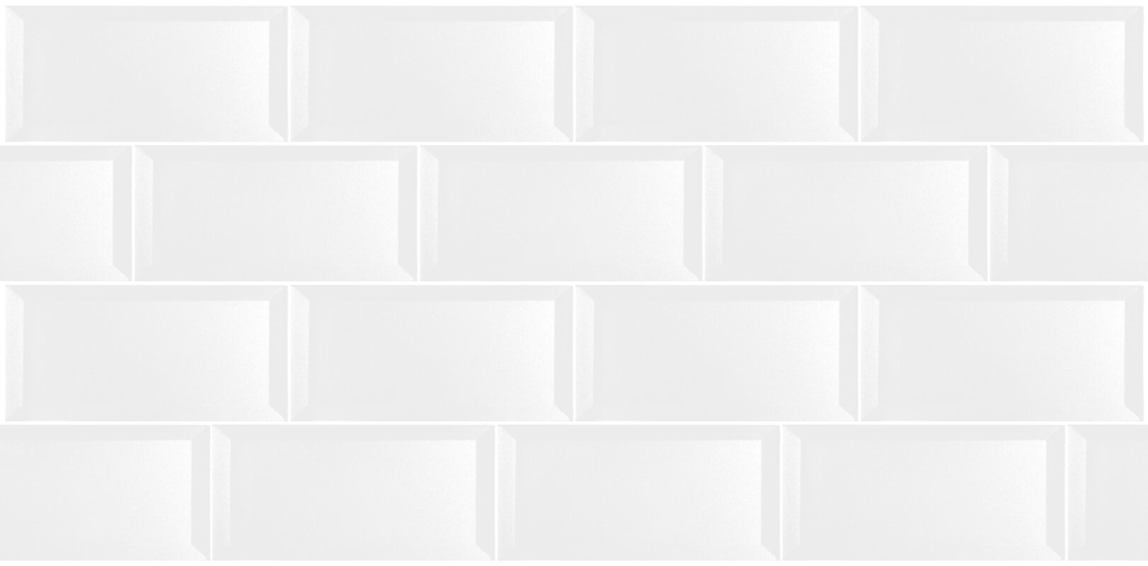 Abolos secret dimensions 3 x 6 glass subway tile in glossy white secret dimensions 3 x 6 glass subway tile in glossy white doublecrazyfo Gallery