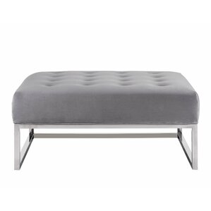 Erico Velvet Ottoman by Willa Arlo Interiors