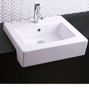 wayfair bathroom sinks. Rectangular Drop In Bathroom Sink with Overflow Sinks You ll Love  Wayfair