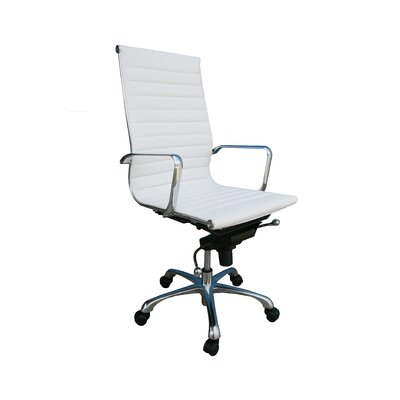 Brayden Studio Brimley Conference Chair Upholstery Color: White