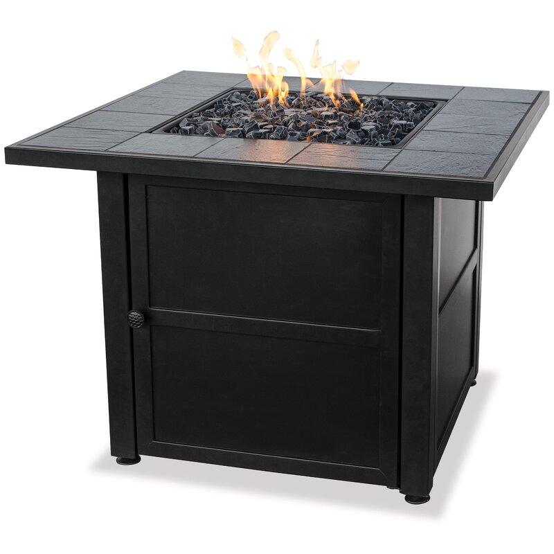 Uniflame Ceramic Tile LP Gas Fire Pit Table