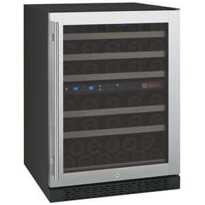 56 Bottle FlexCount Series Dual Zone Freestanding Wine Cooler by Allavino