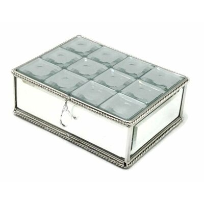Multi-Faceted Mirrored Jewelry Box House of Hampton