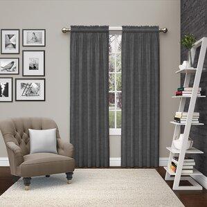 kenda solid room darkening rod pocket curtain panels set of 2