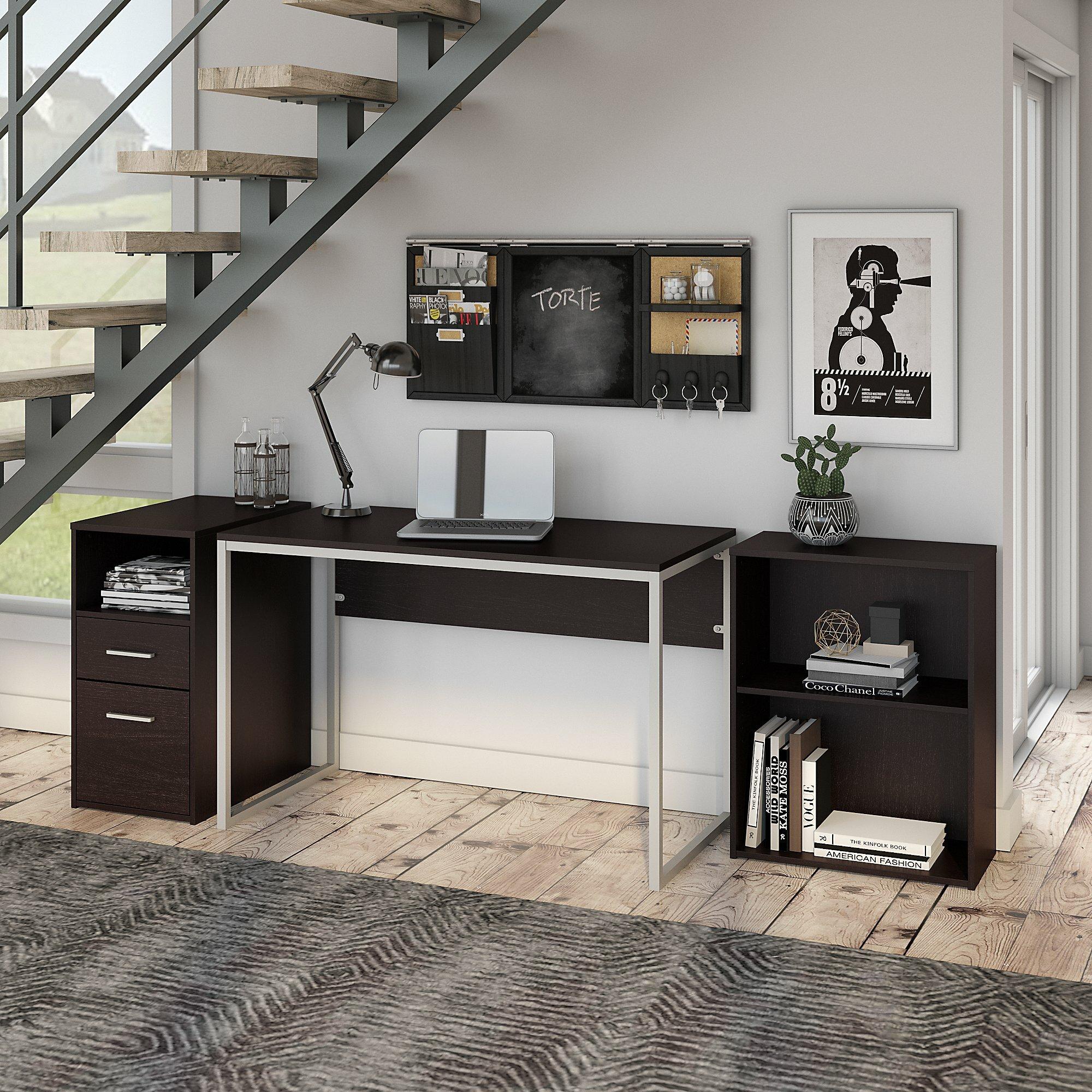 Hesse Small Desk Bookcase And Pedestal Set
