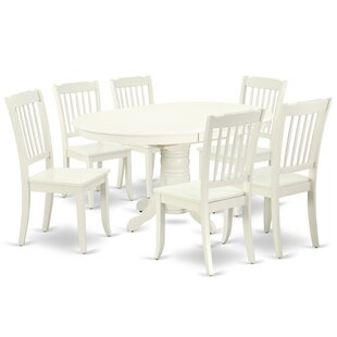 Labbe 7 Piece Extendable Solid Wood Dining Set