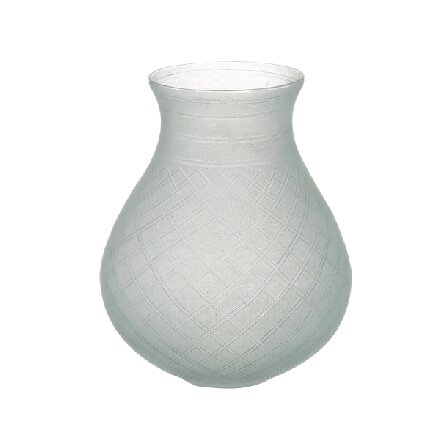 Bidkhome Frosted Etched Glass Bulb Vase Wayfair