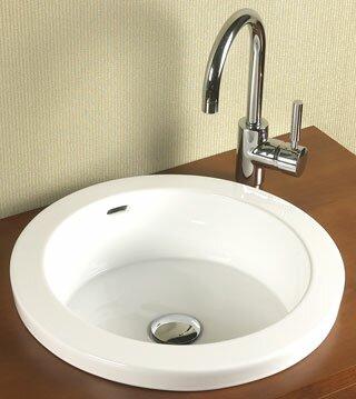 wayfair bathroom sinks. Round Ceramic Circular Drop In Bathroom Sink with Overflow Ronbow
