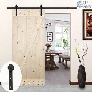 Classic J-Style Sliding Wood Track Kit Barn Door Hardware & Barn Door Hardware Youu0027ll Love | Wayfair