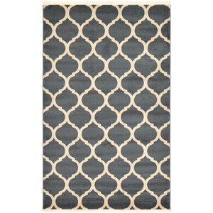 Moore Navy Blue Area Rug