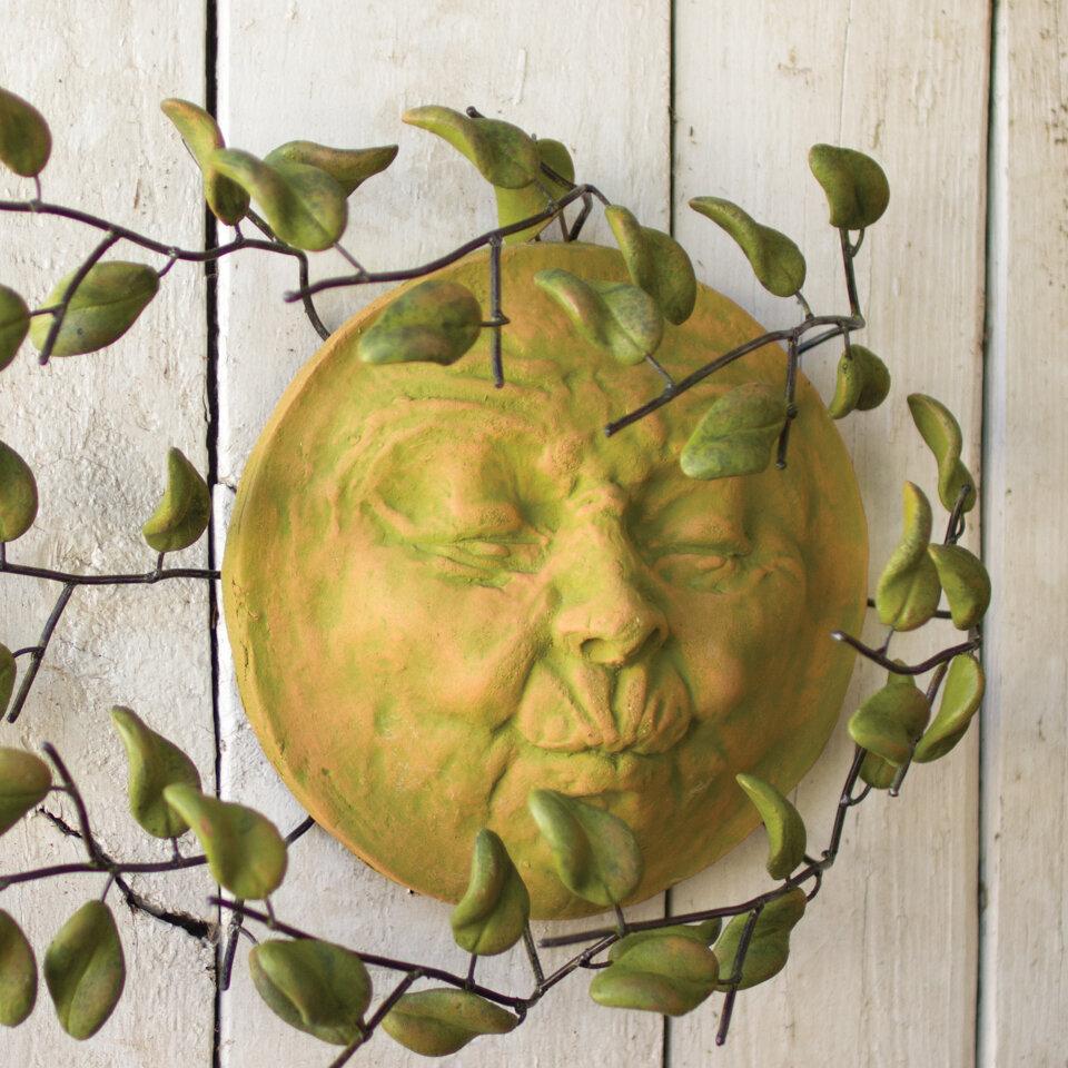 Bungalow Rose Clay Wind Blown Sun Face Wall Décor | Wayfair