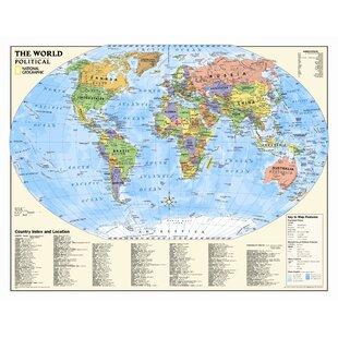 Kids World Map Wayfair Ca