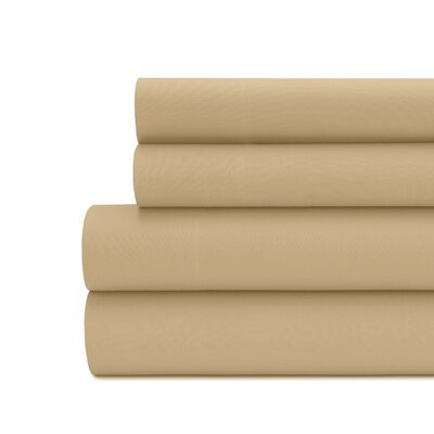 Briarwood Home 100% Cotton Solid Percale Sheet Set Size: King, Color: Tan