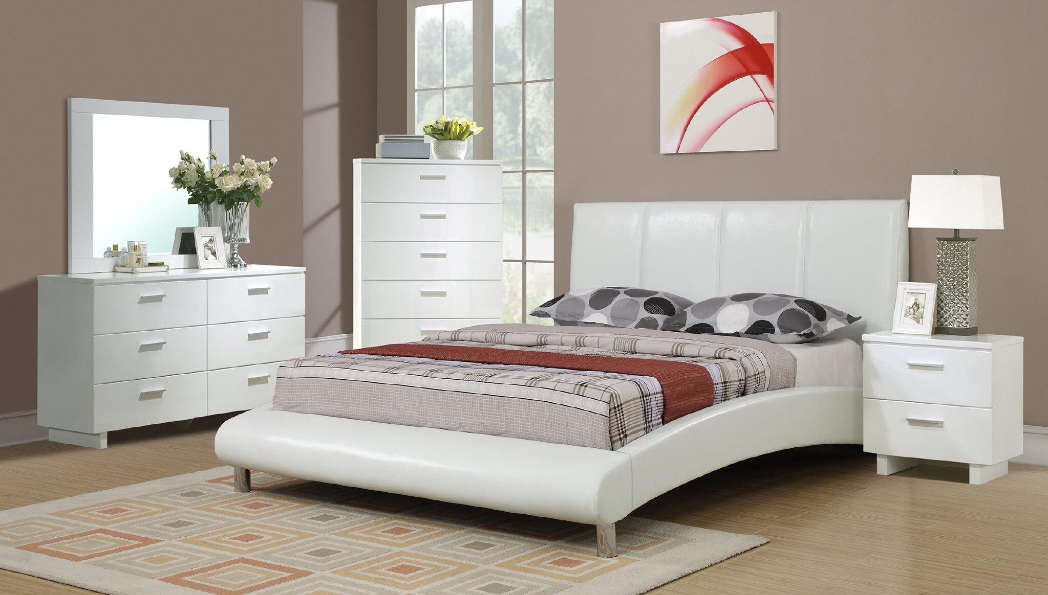 Orren Ellis Huizenga Upholstered Sleigh Bed   Wayfair