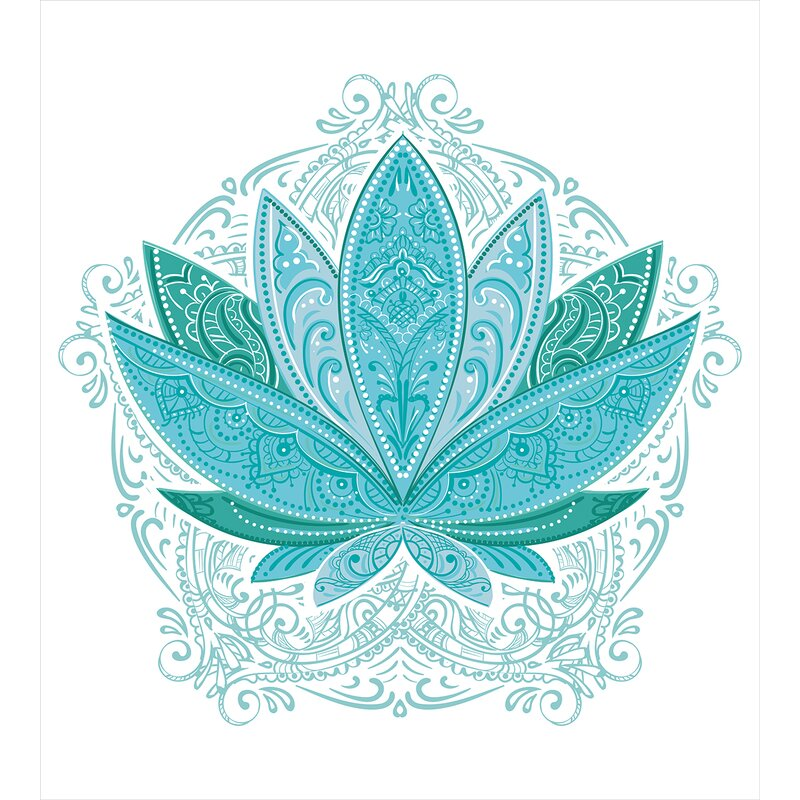 Ambesonne lotus flower with ornaments ethnic exotic petals mehndi lotus flower with ornaments ethnic exotic petals mehndi traditional boho design duvet set mightylinksfo