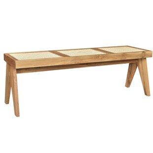 Reese Caned Teak Bench
