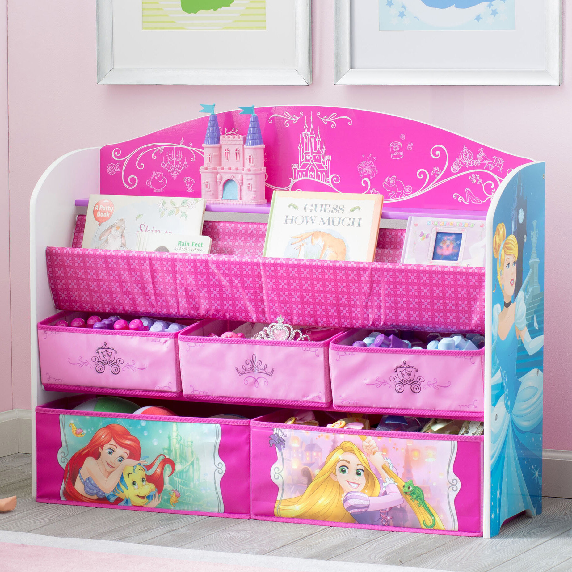 Delta Children Disney Princess Deluxe Book Toy Organizer Reviews