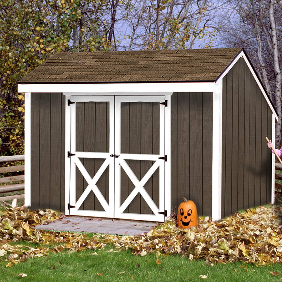 Aspen 12 Ft W X 8 Ft D Solid Wood Storage Shed