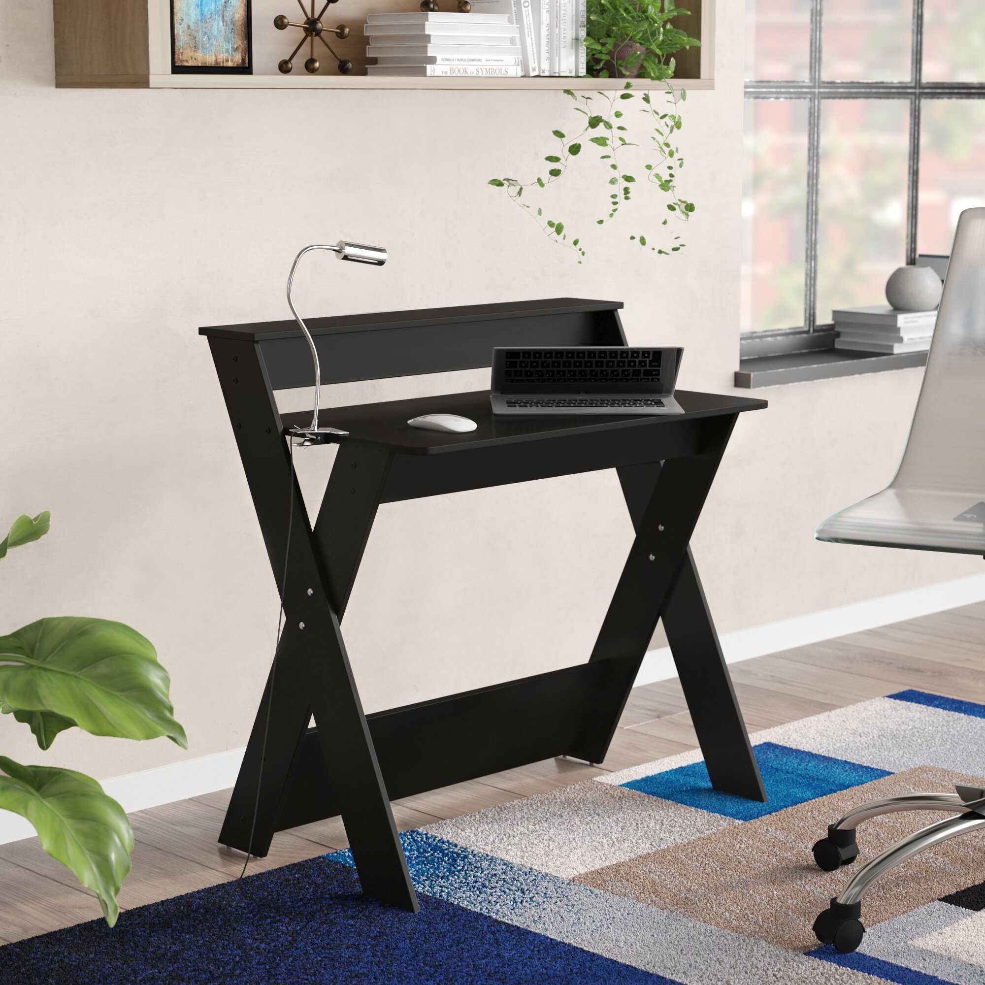 home office writing desk. Zipcode Design Herberts Criss-Crossed Home Office Study Writing Desk \u0026 Reviews | Wayfair