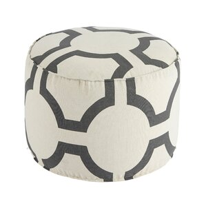 Coolidge Traditional Geometric Pouf Ottoman ..