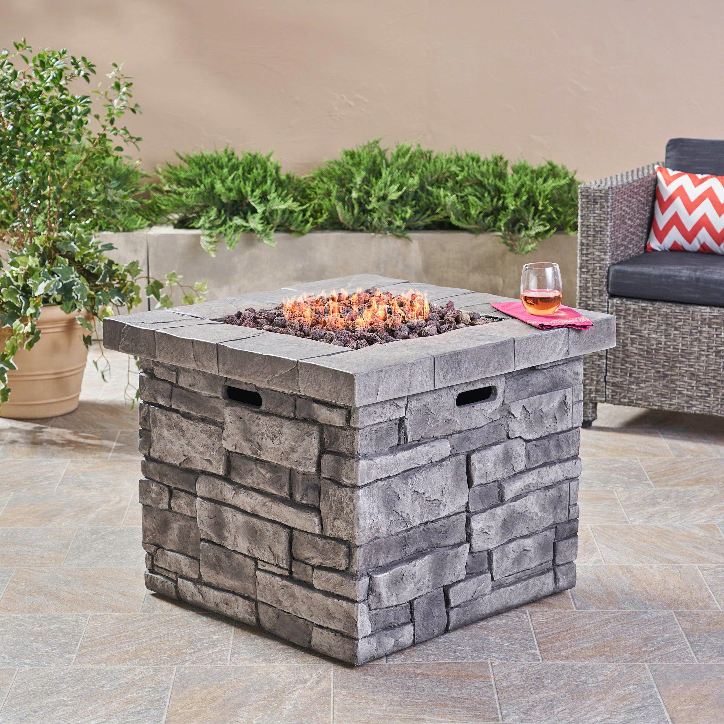 17 stories cookson stone propane fire pit table reviews wayfair