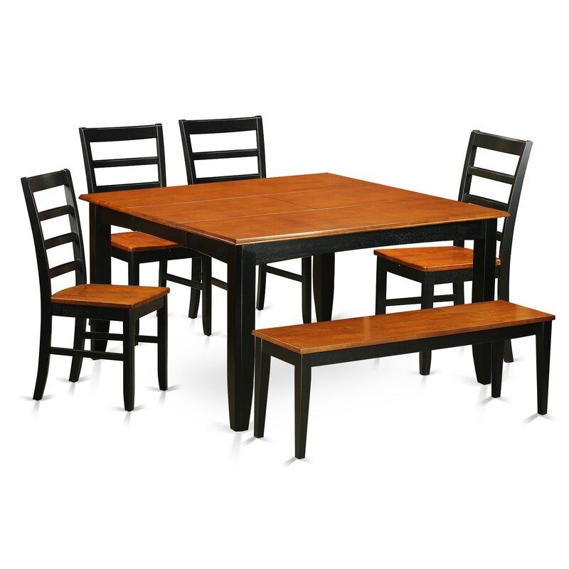 Wooden Importers Lynfield 6 Piece Dining Set: Wooden Importers Parfait 6 Piece Dining Set & Reviews