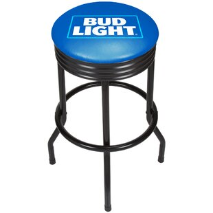 Bud Light Ribbed 28.5 Swivel Bar Stool
