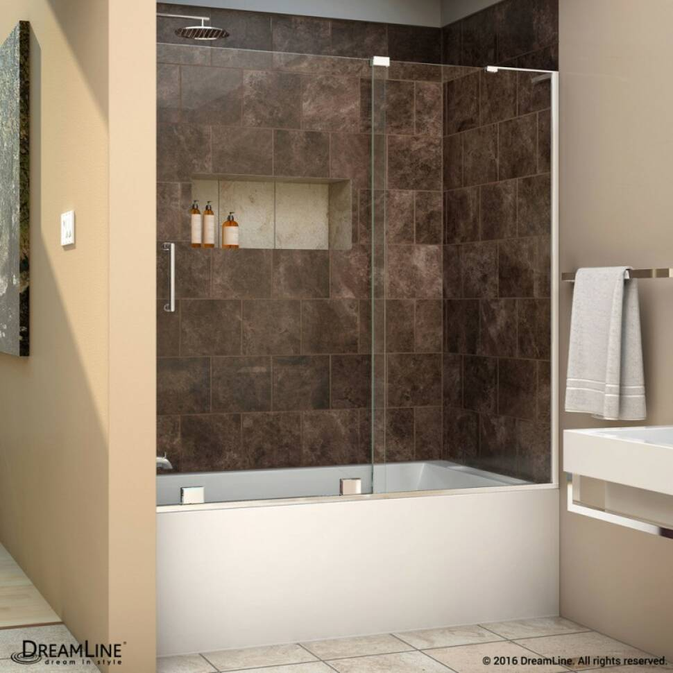 Elegant Frameless Sliding Tub Door With Modern Flair