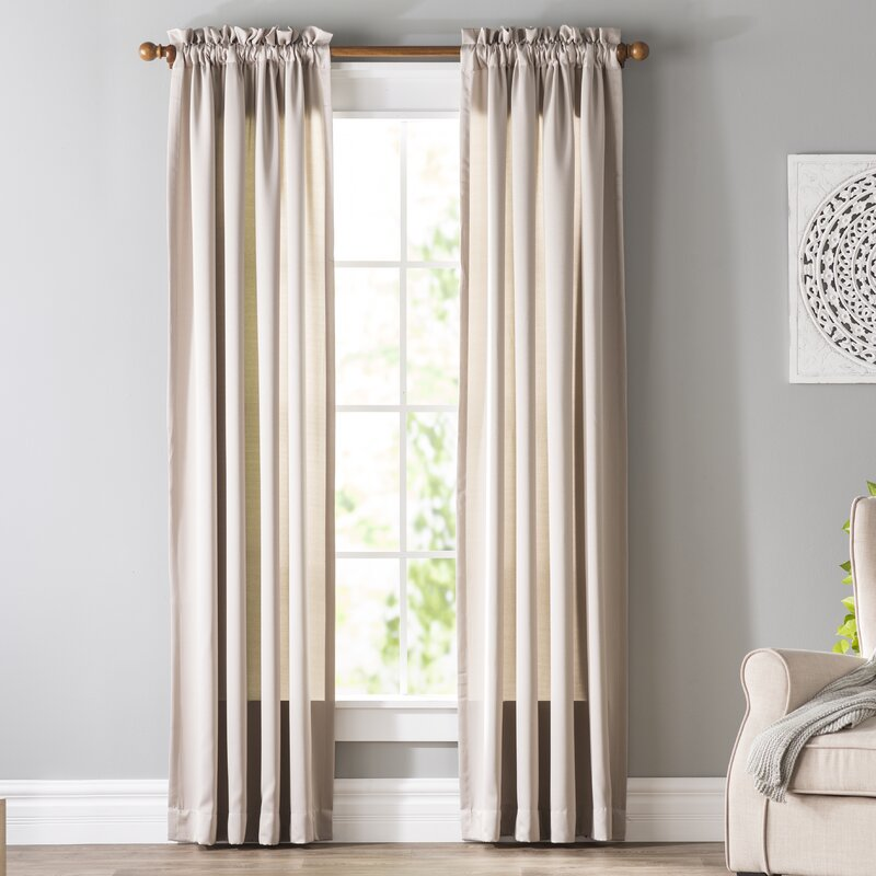 wayfair window treatments grommet curtains wayfair basics solid room darkening thermal rod pocket single curtain panel basics