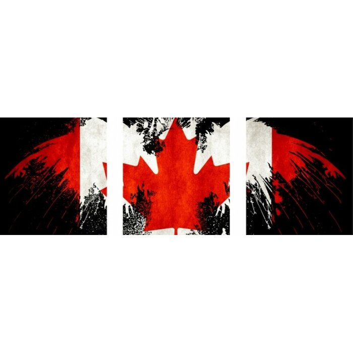 Canadian Flag Graphic Art Print Multi Piece Image