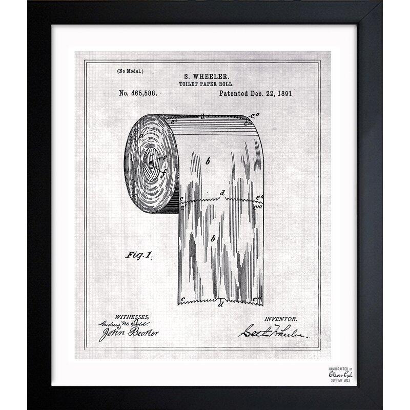 Oliver Gal Toilet Paper Roll 1891 Art Framed Print Amp Reviews Joss Amp Main