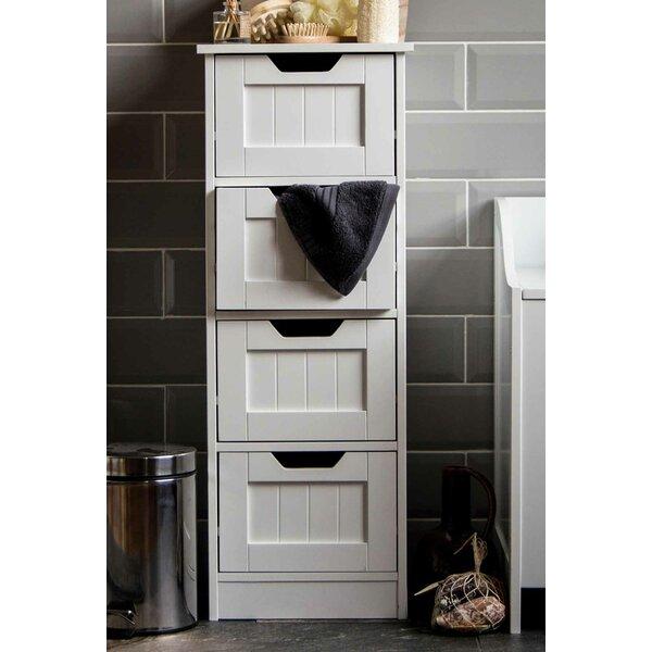 Wildon home vida 30 x 81cm free standing cabinet reviews - Small free standing bathroom cabinets ...