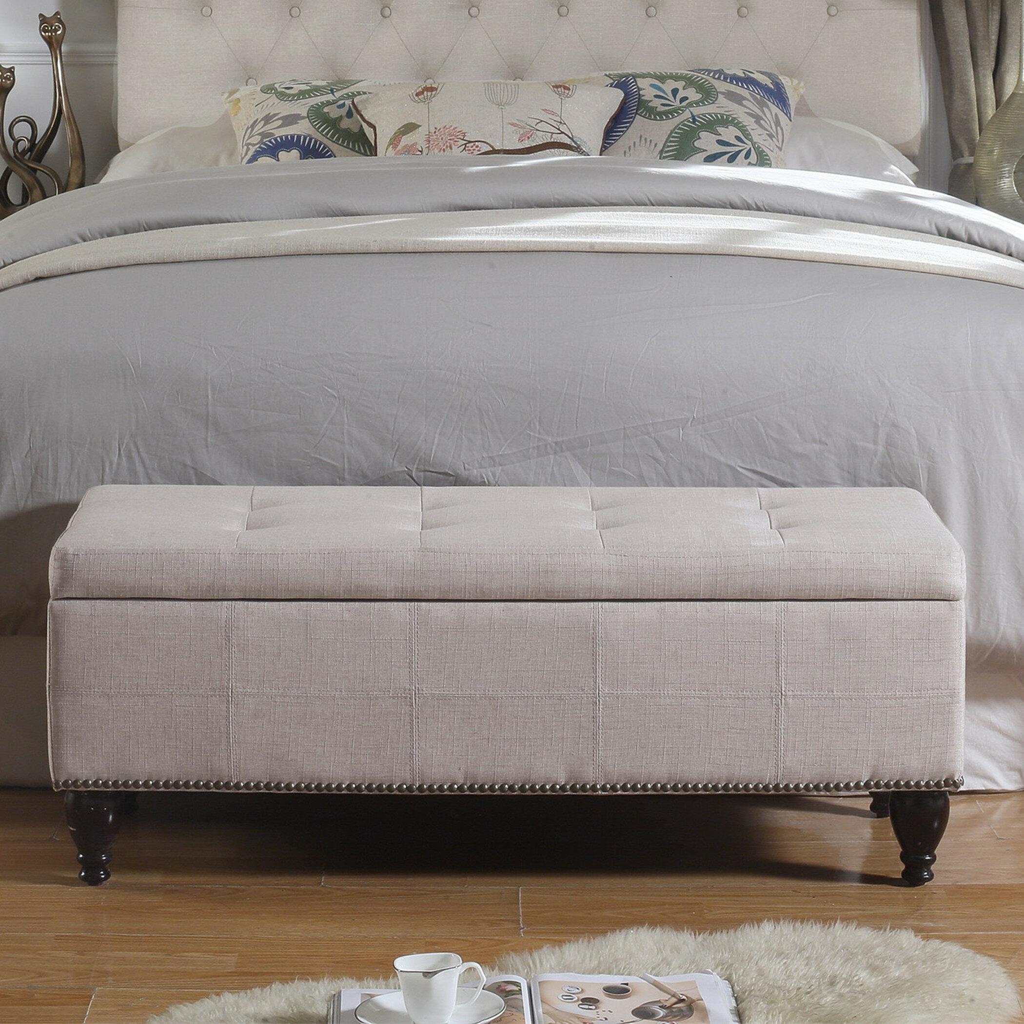 Charlton Home Darrah Upholstered Storage Bench & Reviews | Wayfair