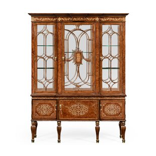 Duchess Burl and Mother of Pearl Lighted China Cabinet