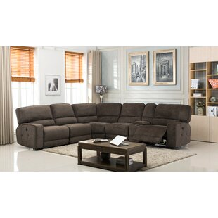 Tumlin Fabric Upholstered Reclining Sectional