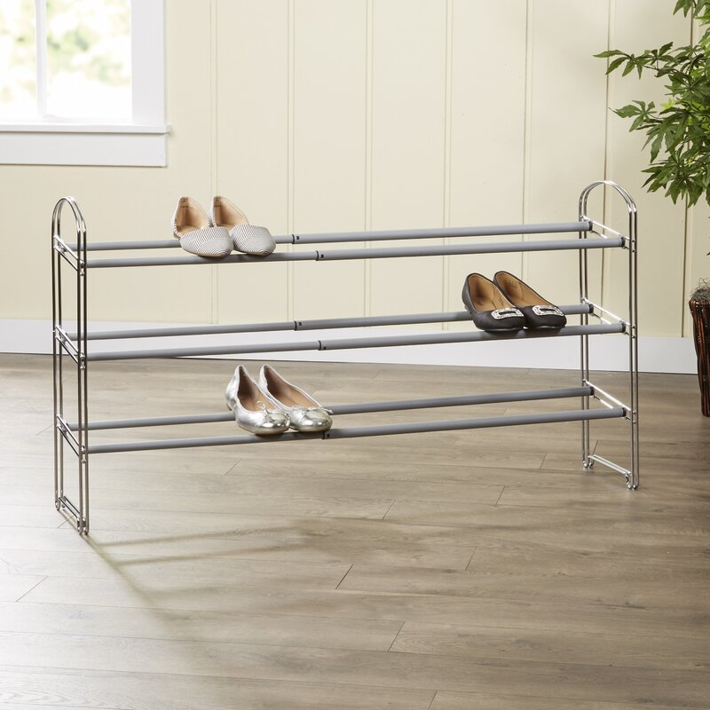 Wayfair Basics™ Wayfair Basics Expandable 3 Tier 21 Pair Shoe Rack ...