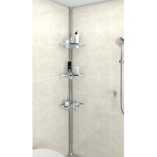 Anne Adjustable 3 Tier Tension Bathroom Shower Caddy