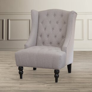 Ordinaire Light Grey Wingback Chair | Wayfair