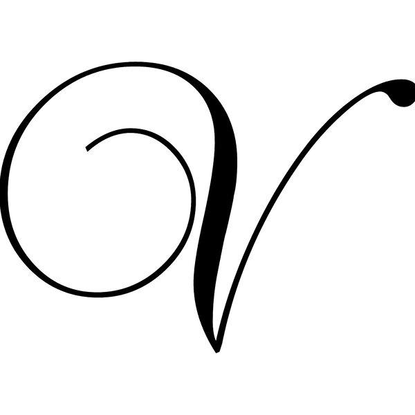 """Enchantingly Elegant Letter """"V"""" Wall Decal"""