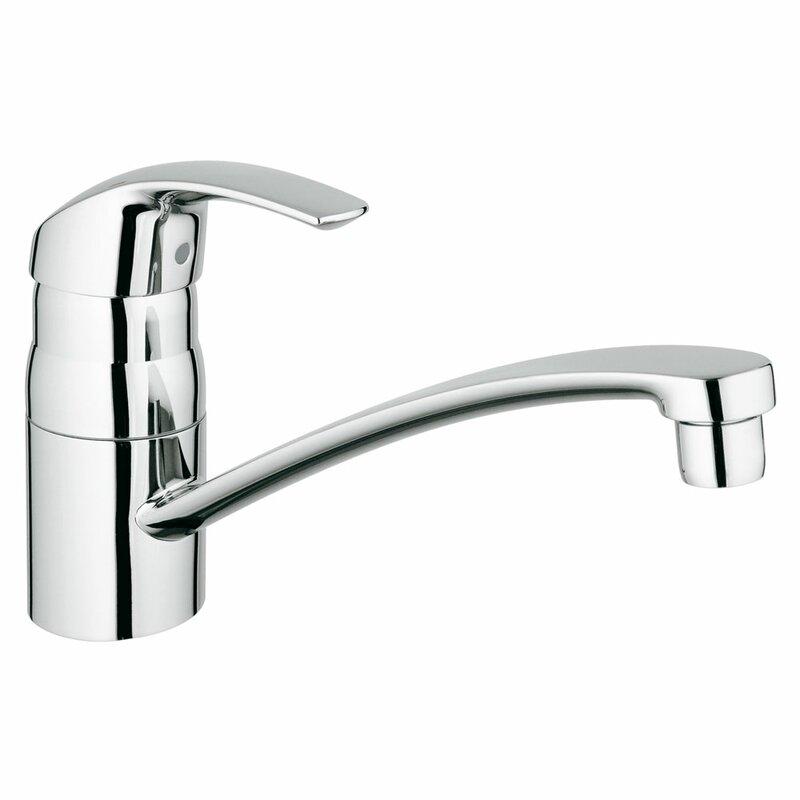 Eurosmart Single Handle Deck Mount Kitchen Faucet With Side Spray