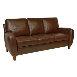 Jennifer Leather Sofa by Luke Leather