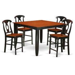 Krull 5 Piece Counter Height Pub Table Set