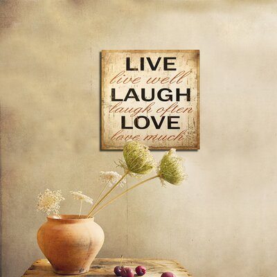 BayAccents Metal Live Laugh Love Wall Décor & Reviews | Wayfair