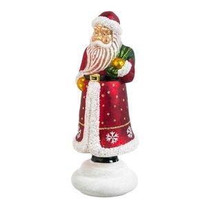 Glass Santa LED Decor