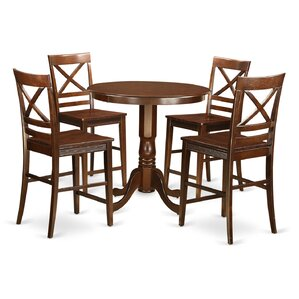 Jackson 5 Piece Counter Height Pub Table Set by East West Furniture