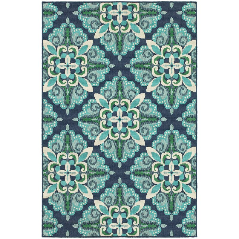 Beachcrest Home Kailani Contemporary Blue Green Indoor