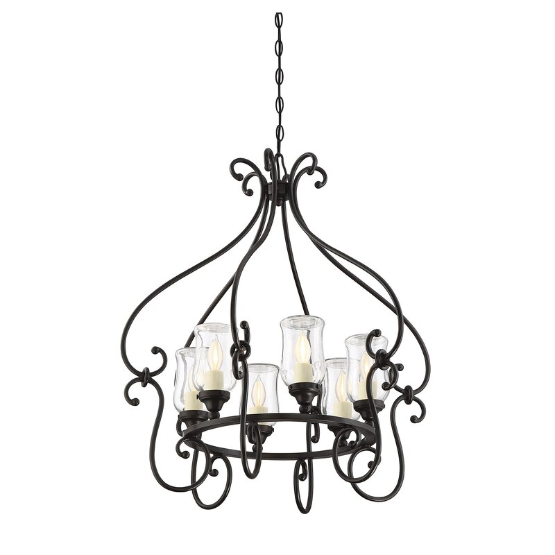 Fleur De Lis Living Bilmar 6 Light Outdoor Chandelier Reviews