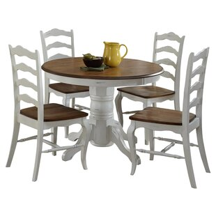 The French Countryside Oak And Rubbed White 5 Piece Dining Set