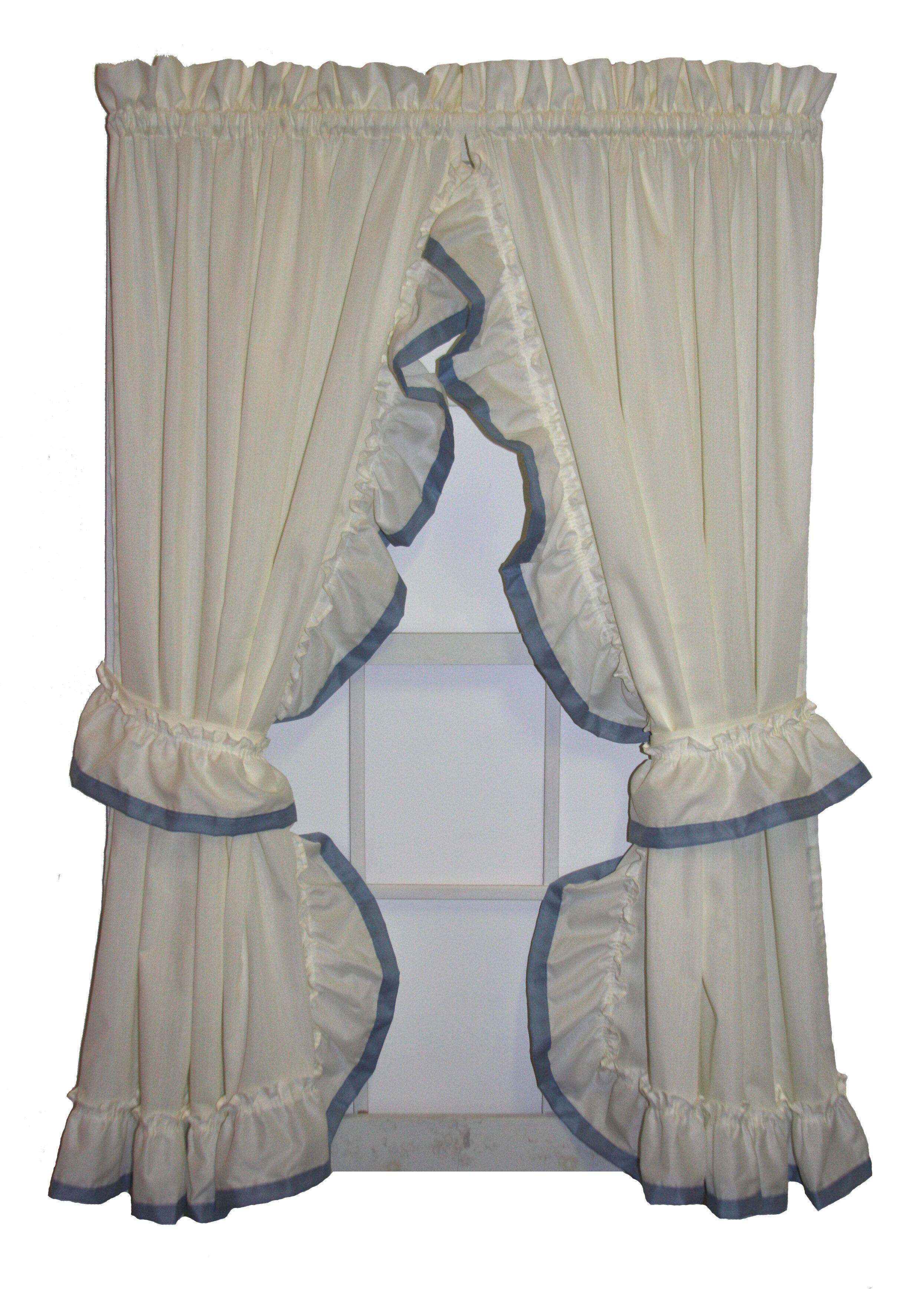 ordinary Priscilla Curtains Kitchen Part - 16: August Grove Howells Banded Edge Ruffled Priscilla Curtain Panels Pair |  Wayfair